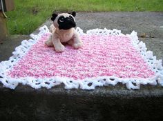 Girly doggy blanket rug by Funkydeb on Etsy