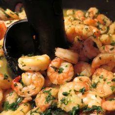 Crevettes à l'ail et au persil actifry