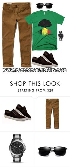 """""""rooted collections - OOTD #64"""" by rootedcollections ❤ liked on Polyvore featuring Hollister Co., FOSSIL, men's fashion, menswear, ootd and belgium"""