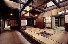 The beautiful and well lit daidoko of the Matsumoto House, Takayama, Japan.