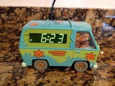Scooby Doo Mystery Machine Alarm Clock with Night Light | eBay