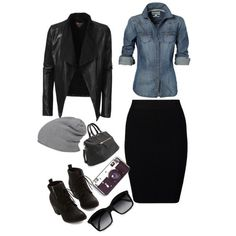 School outfits My goal is to rock an outfit like this and NOT look like a busted can of biscuit Mode Curvy Fashion, Look Fashion, Plus Size Fashion, Winter Fashion, Big Fashion, Denim Fashion, Fashion Styles, Adrette Outfits, Casual Outfits