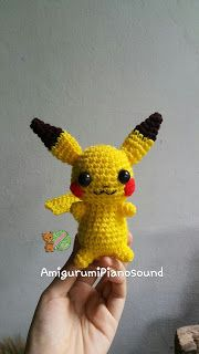Amigurumipianosound Crochet Blog: Free Pikachu Crochet Tutorial and Pattern.