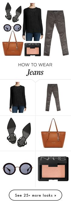 """""""Bullet Blues Celeb Style Staple: Grey Skinny Jeans (Olivia Palermo)"""" by bulletblues on Polyvore featuring мода, philosophy, GUESS, Alexander Wang, Miu Miu и NARS Cosmetics"""