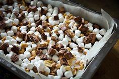 chocolate peanutbutter brownies