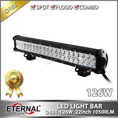 """DR31 series off road powersports light bar, CREE 3W chips, 4"""" 18W ; 6.5"""" 36W ; 12"""" 72W ; 18"""" 108W ; 22"""" 126W ; 28"""" 180W; 36"""" 234W ; 43"""" 288W"""