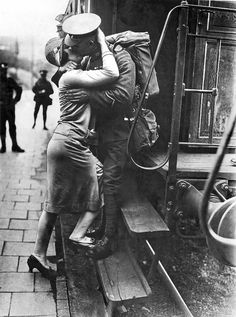 A British Tommie Bestows A Last Kiss Upon His Rhineland Sweetheart As His Detachment Leaves For  England As They Evacuate Germany. Konigstein, Germany, September 1929