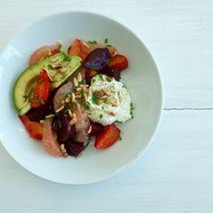 Beet & Avocado Salad with Ricotta