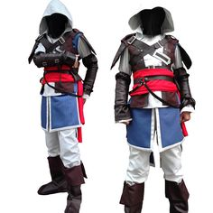 Videogame Assassin's Creed IV Black Flag Edward Kenway Cosplay costumes Hoodie adult halloween costumes for men custom
