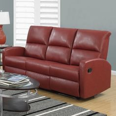 Monarch Specialties Inc. Reclining Sofa #recliningsofa