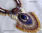 LongHorn Thunder Bead Embroidery Collar