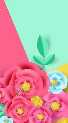 By Artist Unknown. Flowery Wallpaper, Flower Phone Wallpaper, Live Wallpaper Iphone, Paper Wallpaper, Colorful Wallpaper, Cellphone Wallpaper, Cool Wallpaper, Mobile Wallpaper, Wallpaper Backgrounds