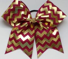 Maroon+and+Gold+Chevron+Cheer+Bow+by+girls4god+on+Etsy