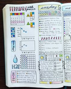 """825 Likes, 22 Comments - Micah (@my_blue_sky_design) on Instagram: """"Weekly & Daily Spread - February 2017 Week 4 It's alarming to me to realize how fast time is…"""""""