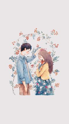 You are my sun when those rainy days come Art And Illustration, Character Illustration, Illustrations, Cartoon Kunst, Cartoon Art, Cover Wattpad, Anime Couples Drawings, Cute Love Cartoons, Cute Couple Art