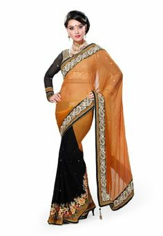 #Designer #Black & #Mustered #Pure #Bemberg #Embroidered #Saree #Fabdealdotcom, http://www.amazon.co.uk/dp/B00H2D3DLQ/ref=cm_sw_r_pi_dp_efprtb1GM1VXH