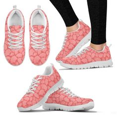 Custom Sneakers Love Heart Dream Custom Made Sneakers Lightweight construction with breathable mesh fabric for maximum comfort and performance. Lace-up closure for a snug fit. High-quality EVA sole for traction and exceptional durability. Pink Sneakers, Custom Sneakers, Sneakers Fashion, Women's Sneakers, Shoe Brands, Women's Pumps, Street Style Women, Shoes Online, Designer Shoes