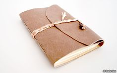Leather journal bookbinding tutorial