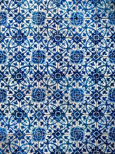 Vintage azulejos, traditional Portuguese tiles Stock Photo by javarman