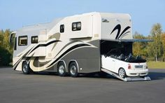 A home on wheels with attached garage!!!