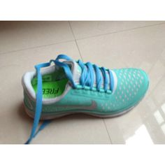 Nike Free 3.0 V4 Womens Tiffany Blue Granite Blue lace [Tiffany Free... via Polyvore