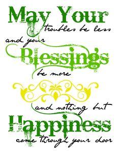 Irish Blessing #Printable Art for #StPatricksDay #Quote