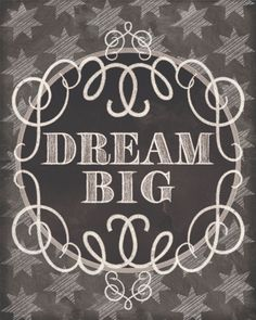 life is short... dream big and always be yourself Chalkboard Short Quotes By Ashley Sta. Teresa