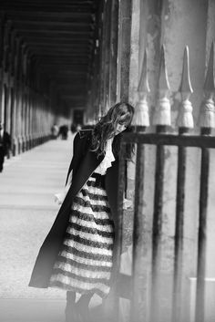 Novel Romance - Lara Stone, Freja Beha Erichsen - Wmag | Photography by Peter Lindbergh