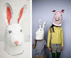 rabbit mask handmade - Buscar con Google
