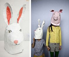 10 DIY Papier Mache Masks and Animal Noses!