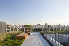 Image 9 of 32 from gallery of Rooftop Park / RDR arquitectos. Photograph by Javier Agustín Rojas Forest Theme, Roof Design, Urban Landscape, Lake View, Rooftop, Terrace, Sidewalk, Deck, Architecture