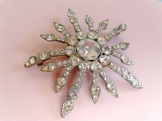 Vintage Schreiner Domed Star Brooch Antique by CrimsonVintique, $95.00