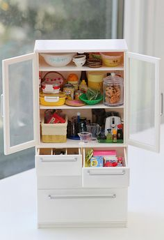 Re-ment white cabinet   Flickr - Photo Sharing!