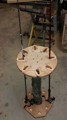 Fishing rod holder - by gscz28 @ LumberJocks.com ~ woodworking community