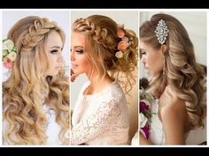 15 The Most Beautiful Hairstyles Compilation Tutorial For Xmas New Eve New Year 2016 - 2017 - YouTube