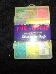 new Fun Weevz glow in the dark bracelet kit jewelry making slumber party 707 pcs #Claires