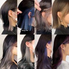 Under Hair Color, Hidden Hair Color, Hair Color Underneath, Hair Color For Black Hair, Hair Color Streaks, Hair Dye Colors, Hair Highlights, Shot Hair Styles, Curly Hair Styles