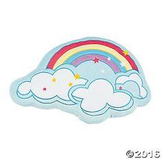 Plush Rainbow Pillow