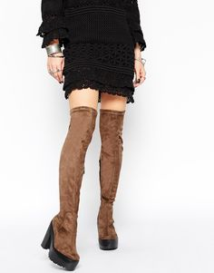ASOS KA CHING Over the Knee Boots