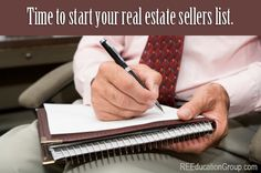 Creating a Real Estate Sellers List - The Real Estate Education Group
