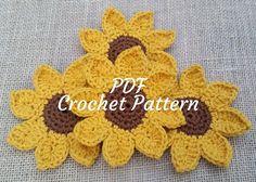Crochet Sunflower Coaster Set Pattern by CareysCountryComfort