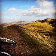 Hill top biking in the Pentlands