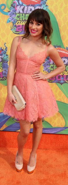 Lea Michele in Elie Saab at the Kids' Choice Awards