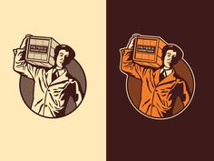 Gourmet Sauce Delivery Man Illustration by Emir Ayouni