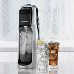 Make your own soda with a Sodastream. One of my all time favorite Fruit Infused tool. CLICK THE PICTURE FOR SALE PRICES.