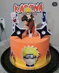 Naruto Birthday, Pokemon Birthday Cake, 8th Birthday Cake, Superhero Birthday Cake, Boy Birthday, Creative Cake Decorating, Creative Cakes, Naruto Party Ideas, Bolo Naruto