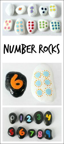 Hands-on math with homemade number rocks. I really, really want to make these!