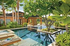 2010 AD100: Mark de Reus Architect digest Hawaii Urban Sanctuary Hawaiian Craftsman Landscape  Pool