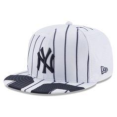 Men's New York Yankees Aaron Judge New Era White Player Authentic Jersey Snapback Adjustable Hat Nba Hats, Baseball Hats, Dodgers, Yankees Gear, Dope Hats, Snapback Cap, New York Yankees, Hats For Men, Big Sis
