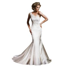 GEORGE BRIDE One Shoulder Satin Princeless Wedding Dress
